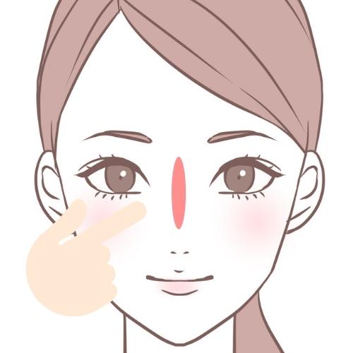 鼻の付け根