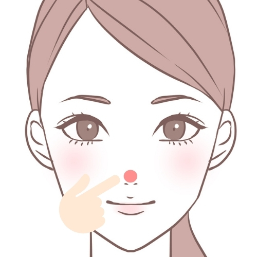 鼻の頭にニキビ・鼻頭・鼻の上・鼻のてっぺん