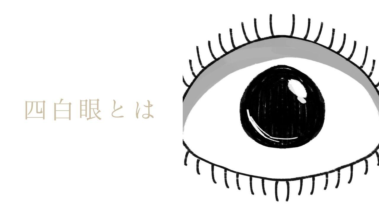 四白眼とは?特徴13選!サイコパスで危険な目は本当?