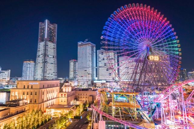 《神奈川県》横浜みなとみらい・全館ライトアップ夜景