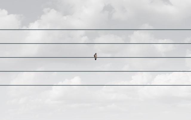 孤独をイメージする画像
