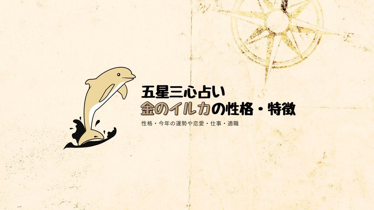金のイルカの性格・特徴・芸能人・相性を考察【五星三心占い】